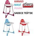 Pilsan Pratik Mama Sandalyesi - Pembe - Mavi - Kırmızı