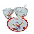 Porselen Bebek Mama Seti 4 Parça Çantalı 4 Farklı Model Seçeneği