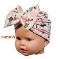 Kız bebek desenli kurdaleli bone, kız bebek bandana, kız bebek be