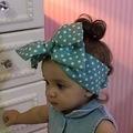 Bebek için fiyonklu bandana, Arkası lastikli Esnek Saç aksesuarı