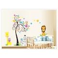 Çocuk Odası Dekorasyonu Ağaç Aslan Zebra ve Kuşlar Kendinden Yapı