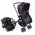 Kraft Twist Deco Travel Sistem Bebek Arabası Siyah/kırmızı