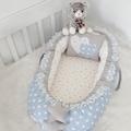 Modastra Babynest Mavi ve Gri Yıldızlı Kombin Lüx Baby Nest