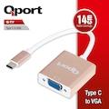 QPORT Q-TV TYPE-C TO VGA 60Hz 1920x1080P ÇEVİRİCİ