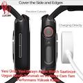 Apple Watch 2-3-4-5 /38-40-42-44mm 360 Derece Koruma+Kırılmaz Cam