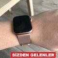 Apple Watch 38-40mm ve 42-44mm Metal Mıknatıslı Hasır Kordon