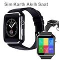 Sim Kartlı Akıllı Saat Smart Watch Zarif Tasarım X6/2020 Telefon