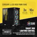 CORSAIR CC-9011188-WW ICUE 465X RGB TEMPERLI CAM