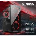 Dark VISION 4x12cm Dual Kırmızı Fan USB3.0 T-Glass ATX Oyuncu Kas