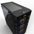 POWERBOOST X-59 650W 80+ TEMP. GLASS 6xRAINBOW LED GAMING KASA