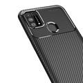 Samsung Galaxy M31 Kılıf Karbon Desen Tam Koruma Armor Silikon