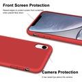 iPhone XR Kılıf Logolu Lansman Altı Kapalı İç Kısım Kadife