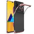 Samsung Galaxy M31 Köşeleri Renkli Kılıf + Kırılmaz Cam Hediye