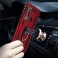 Xiaomi Redmi Note 8 Kılıf Vega Tank Zırh Metal Yüzüklü Standlı