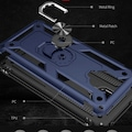 Xiaomi Redmi Note 9 Pro Kılıf Vega Tank Zırh Metal Yüzüklü Koruma