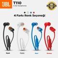 JBL T110 Kulak İçi Kulaklık - Siyah, Beyaz, Kırmızı, Mavi
