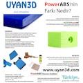 ABS FİLAMENT NUMUNE 5 METRE PowerABS UYAN3D