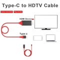 Type-C Samsung S8 HDMI HDTV Görüntü Aktarma Kablosu 4K-2 Metre