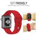 Apple Watch 2 3 4 5 38 40 42 44 mm KIRMIZI Kordon Silikon Kayış