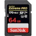 Sandisk 64GB 170/MB EXTREME PRO SD 4K U3 V30( YENİ MODEL )