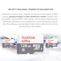 Sandisk 16GB 32GB 64GB 128GB Class 10 MicroSD Hafıza Kart SDSQUNS