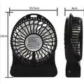 3 Kademeli Şarjlı Masa Üstü USB Mini Taşınabilir Vantilatör Fan