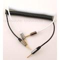 3,5mm Tüm Modeller İçin Spiralli Aux Kablo