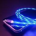 MAVİ Renk Neon Işıklı Ledli Yeni Nesil İphone Kablo