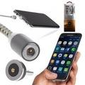 360 Derece Dönen Başlıklı ve Mıknatıslı Micro Usb Şarj Kablosu