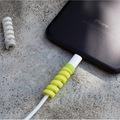 Şarj Kablosu Koruyucu Silikon Spiral Kablo Koruyucu 4lü Paket