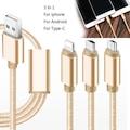 Twinix Micro Usb iPhone Type- C Usb Şarj Kablosu 3 in 1
