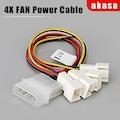 AKASA CB001 Kasa içi 4x3 pin Hız Düşürme Özellikli Fan Çoklayıcı