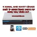4 Kanal Ahd Dvr Kayıt Cihazı Xmeye 1080 Hd Kayıt cihazı