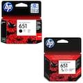 HP 651 Siyah - HP 651 Renkli İkili Ekonomik