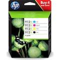 HP 912XL  C/M/Y/BK Orijinal 4 Lü Set