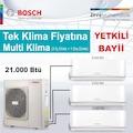 BOSCH MULTİ SPLİT İNVERTER KLİMA 21.000 BTÜ ( 1 DIŞ + 3 İÇ ÜNİTE)