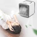 Klima Fan Mini Taşınabilir Hava Cooler Nano Fan Şarj USB