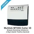 Multitek MT 26S PBX 2 Harici 6 Dahili Telefon Santrali