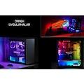Bilgisayar Modifiye Kasaiçi RGB Şerit Led Kumandalı Tv Arkası