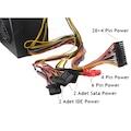 400W Watt Power Supply - PSU Güç Kaynağı12cm Fan On-Off Düğmeli