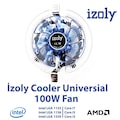 İzoly Cooler Universal Led (775,115X-AMD)Pin İşemci Fanı 100w