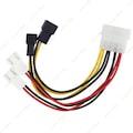Molex 4 Pin to 3 Pin Fan Konnektör Soket Çevirici Kablo
