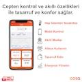 Cosa Pilli+Adaptör Girişli V4 Akıllı Oda Termostatı Kombi Kontrol
