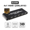 DARK DK-HD-SP4X1 4 Port HDMI Splitter Çoklayıcı