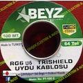BEYZ TECHNOLOGY RG6 U6 TRISHIELD UYDU KABLOSU PT-100C 100 METRE