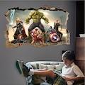 Avengers Yenilmezler Süper Kahramanlar Çocuk ve Genç Odası 3D PVC