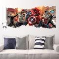 Duvar Sticker Yenilmezler Filmi Avengers 3 Boyutlu Çizim  Duvar D
