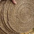 4 Adet 35 Cm Örme Hasır Bambu Amerikan Servis Tabak Altlığı Supla