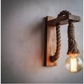 Retro Ahşap Duvar Aplik Rustik Edison Tavan Aydınlatma Akıllı Raf