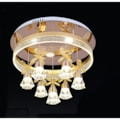Gürbüz Avize Çember Gold Seri Kelebek ve Gül Led Kumandalı Avize